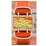 デラノ  オレンジ ダイヤ付き 時計