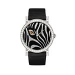 デラノ  ベゼルダイヤ ブラック 時計