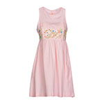 マヌーシュ  刺繍 ピンク ショートドレス