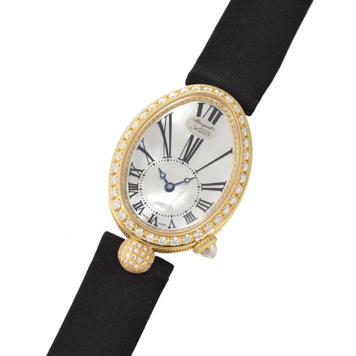 ブレゲ ベゼルダイヤ サテンベルト 時計