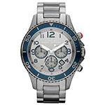 マークバイマークジェイコブス MBM5028 Men's Rock Chrono Stainless Steel Silver Dial Watch