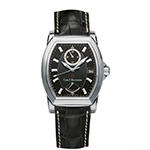 Bucherer Patravi T24 Stainless Steel Black Dial Automatic Watch