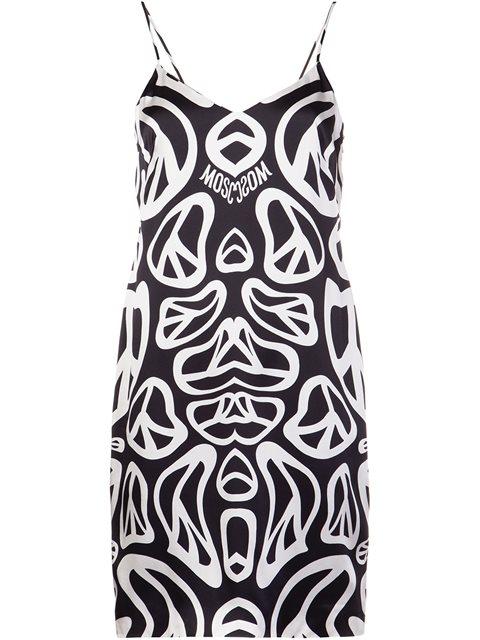 モスキーノ ロゴ プリント ドレス カクテル ドレス