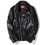 ルードギャラリーブラックレーベル  ブラックレザー ライダースジャケット