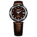 ヨヴィッサ  クリスタル&クリスタル ブラウン レディース時計
