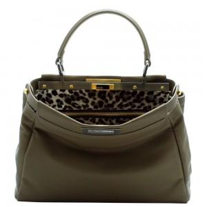 Fendi-Olive-Leopard-Print-Peekaboo-Large-Bag