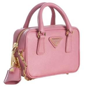 プラダ サフィアーノ ミニバッグ ピンク