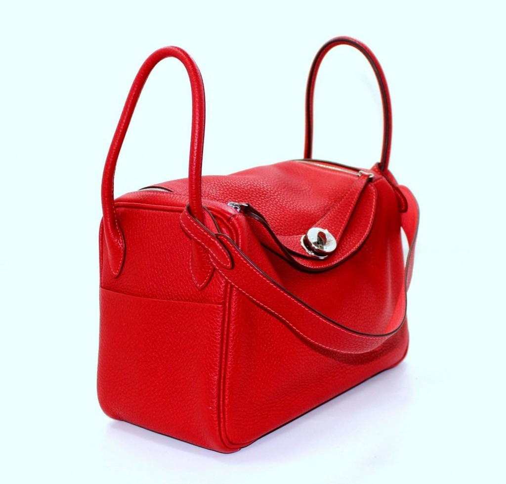 Hermes Lindy 26 To Clemence leather Rouge tomato