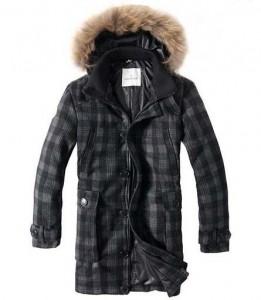 Moncler-Grid-Mens-Long-Down-Coats-Black