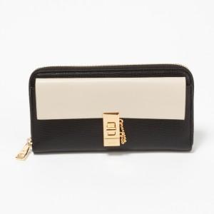 クロエ ドリュー ブラック ホワイト 長財布