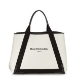 Balenciaga-BlackNatural-Navy-Cabas-M-Bag