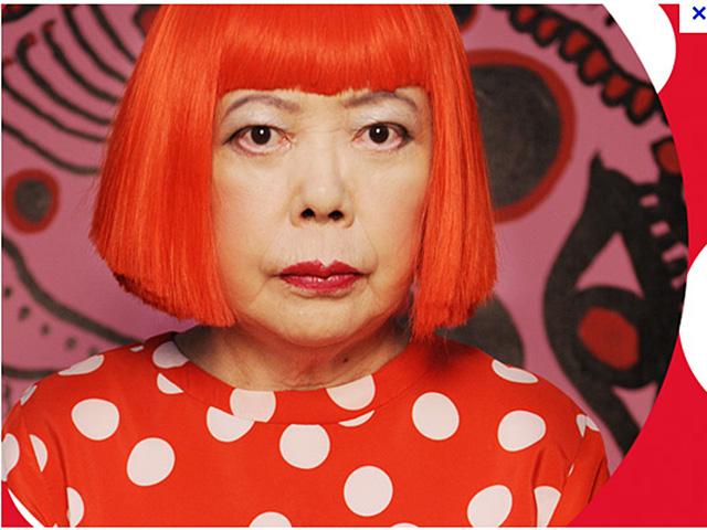 yayoi-kusama-in-red-wig