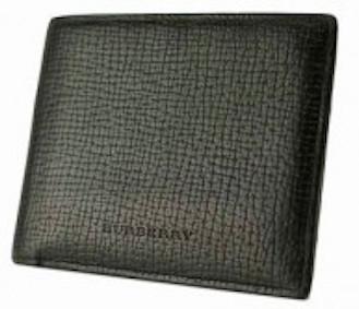 バーバリー 革2 つ折り財布黒