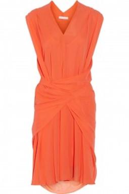 シーバイクロエ シルク ドレス オレンジ