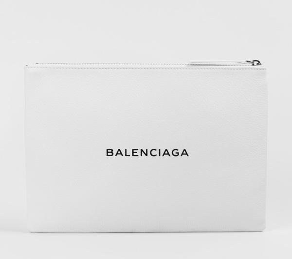 バレンシアガ レザークラッチ ホワイト