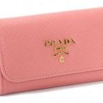 プラダ キーケース サフィアーノ メタル ピンク