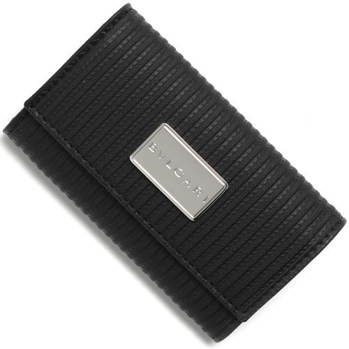 ブルガリ 25559 ブラック ミレリゲ キーケース