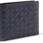 ボッテガヴェネタ イントレチャート レザー ブラック 二つ折り財布 メンズ