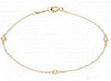 ティファニー バイザヤード 3Pダイヤモンド ネックレス K18