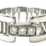 ティファニー K18WG アトラスオープン ダイヤモンドリング