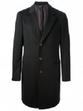 ジョルジオアルマーニ ドレスコート メンズ ブラック