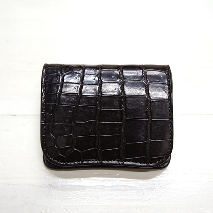 ワイルドスワンズ クロコ PALM コンパクト財布