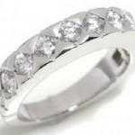 ブシュロン ディアマン リングK18WG ダイヤモンド