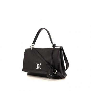 thumb-louis-vuitton-lockme-ii-handbag-in-black-leather
