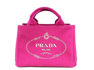 プラダ ミニカナパトート キャンバス ピンク